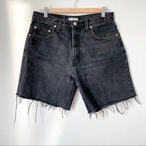 Vintage cut off black jean shorts